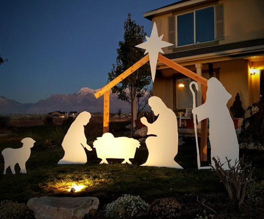 Christmas Outdoor Plastic Nativity Set with by NativitySetShop