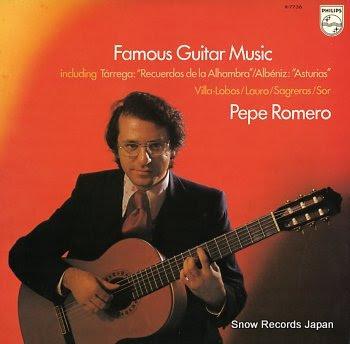 ROMERO, PEPE famous guitar music
