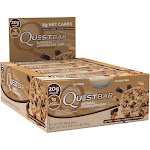 QuestBar Oatmeal Chocolate Chip Protein Bars - 12 count, 25.4 oz box