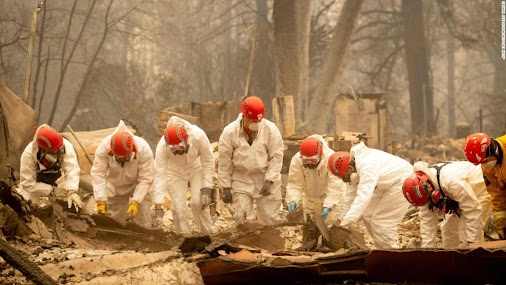 California fires: Search efforts intensify with more than 600 missing
