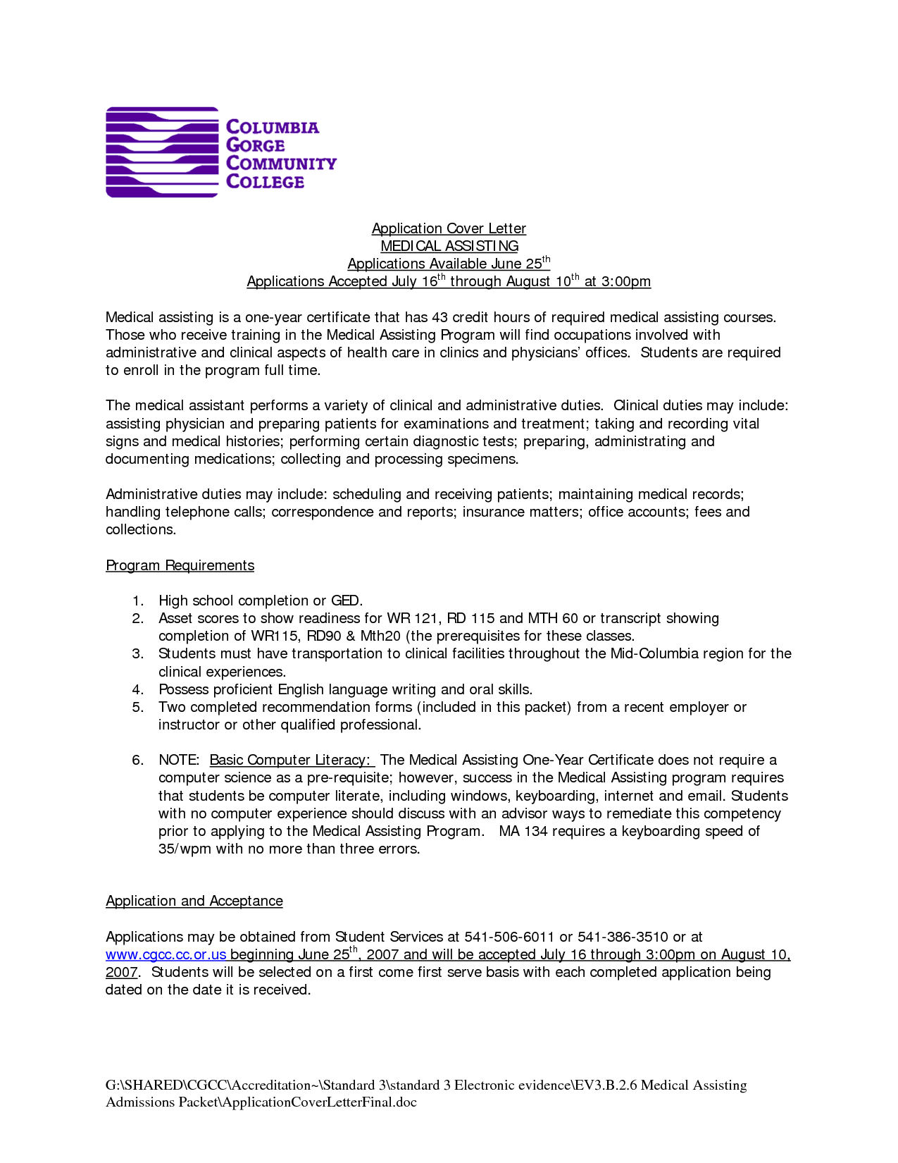 Medical Field Cover Letter For Healthcare Administration Primary Pictures Awesome