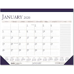 HOUSE OF DOOLITTLE Recycled Two-Color Monthly Desk Calendar w/Large Notes Section 18 1/2 x13 2020 1646