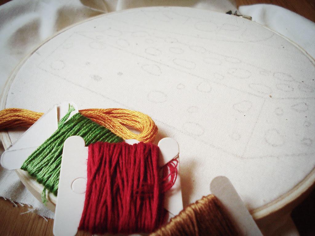 fruitcake with thread