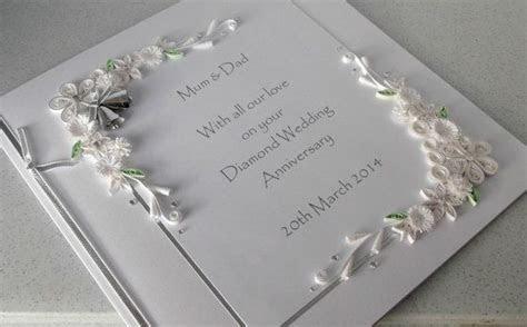 60th diamond wedding anniversary card, personalised