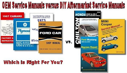 Vehicle Service Manuals: OEM vs. DIY - The Motor Bookstore Blog