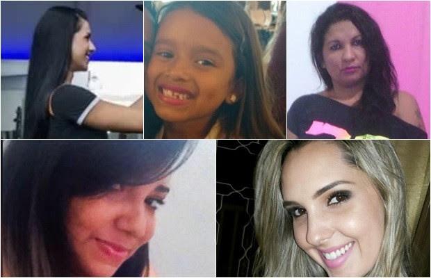 Cinco das seis vítimas de violência doméstica registrados em uma semana, em Goiás (Foto: Montagem/G1)