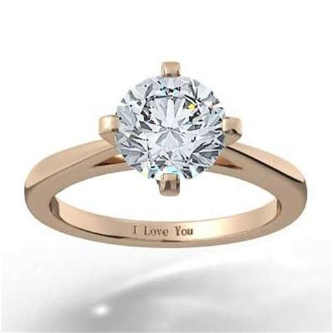 North South East West Solitaire Setting 14k Rose Gold