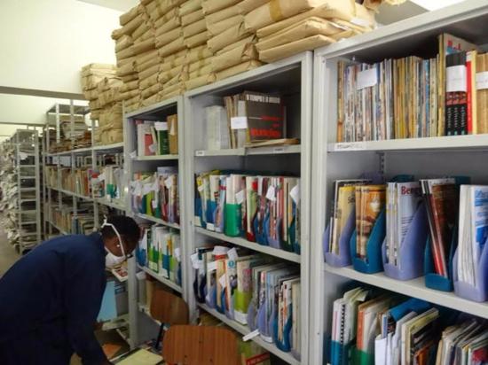 Zona del deposito de publicaciones periodicas.Foto: Andrea Sala