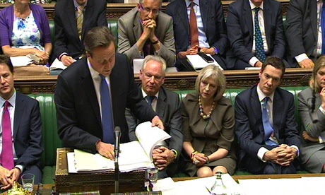 David Cameron speaking at Prime Minister's Questions on 25 June 2014.