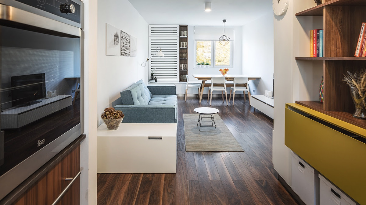 Light And Charming Decor In A Compact 1 Bedroom Apartment