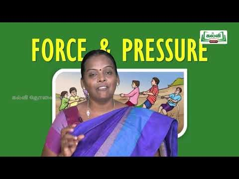 ஆய்வுக் கூடம் Std 8 Science Force And Pressure Kalvi TV Part 01