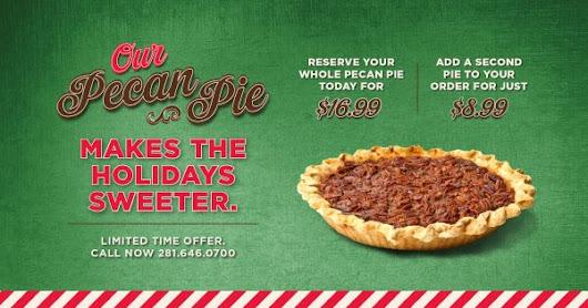 Our Pecan Pie Makes the Holidays Sweeter