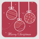 Festive Christmas Decorations Sticker