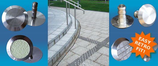 Convert existing paving with Stainless Steel Tactile Studs and Strips from KPC UK