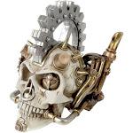 Alchemy Gothic Steampunk Industrial Medieval Skull Room Decor - Medium