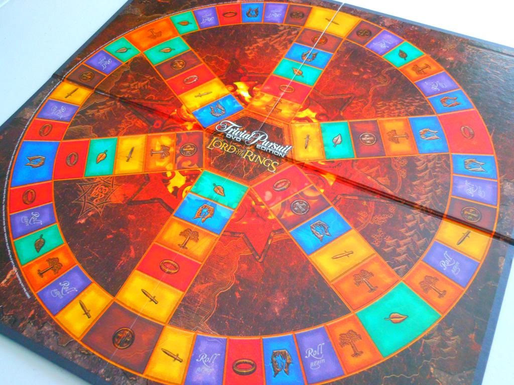 Trivial Pursuit DVD: The Lord of the Rings Trilogy Edition board