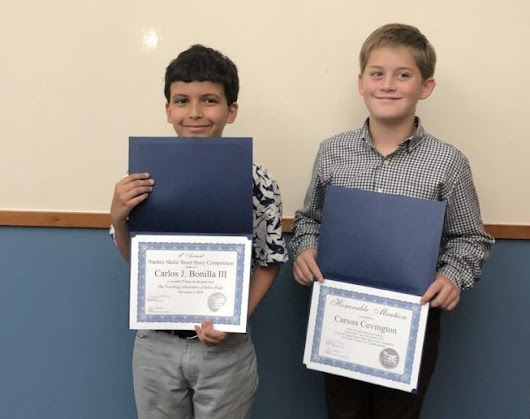 Two Farragut fifth graders are recognized in creative writing contest - Admiral Farragut Academy