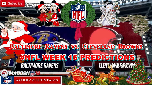cleveland browns nfl week 15 predictions madden 18 - Nfl Christmas Games