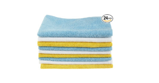 24 Pack AmazonBasics Microfiber Cleaning Cloth for $6.83 at Amazon with Subscribe & Save