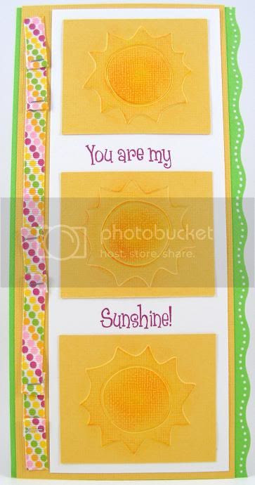 Embossed Suns Card
