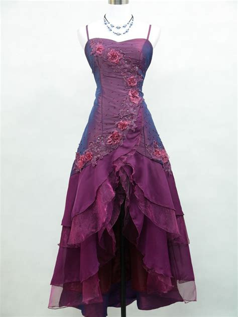 cherlone satin dark purple prom lace bridesmaids ball