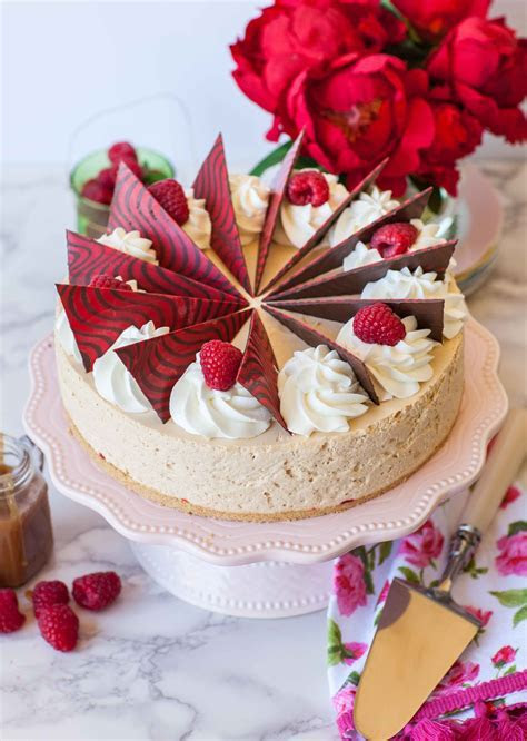 Raspberry Caramel Mousse Cake (video)   Tatyanas Everyday Food