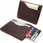 Walleteras Minimalist Front Pocket Wallet in Crazy Horse Leather - Solo Wine Red / Solo II