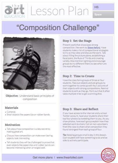 composition challenge  lesson plan