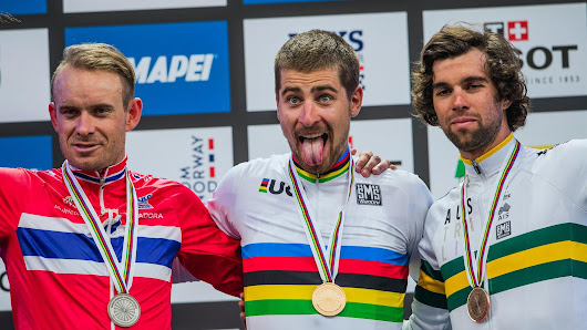 Peter Sagan takes historic Road Race win after photo-finish in Bergen