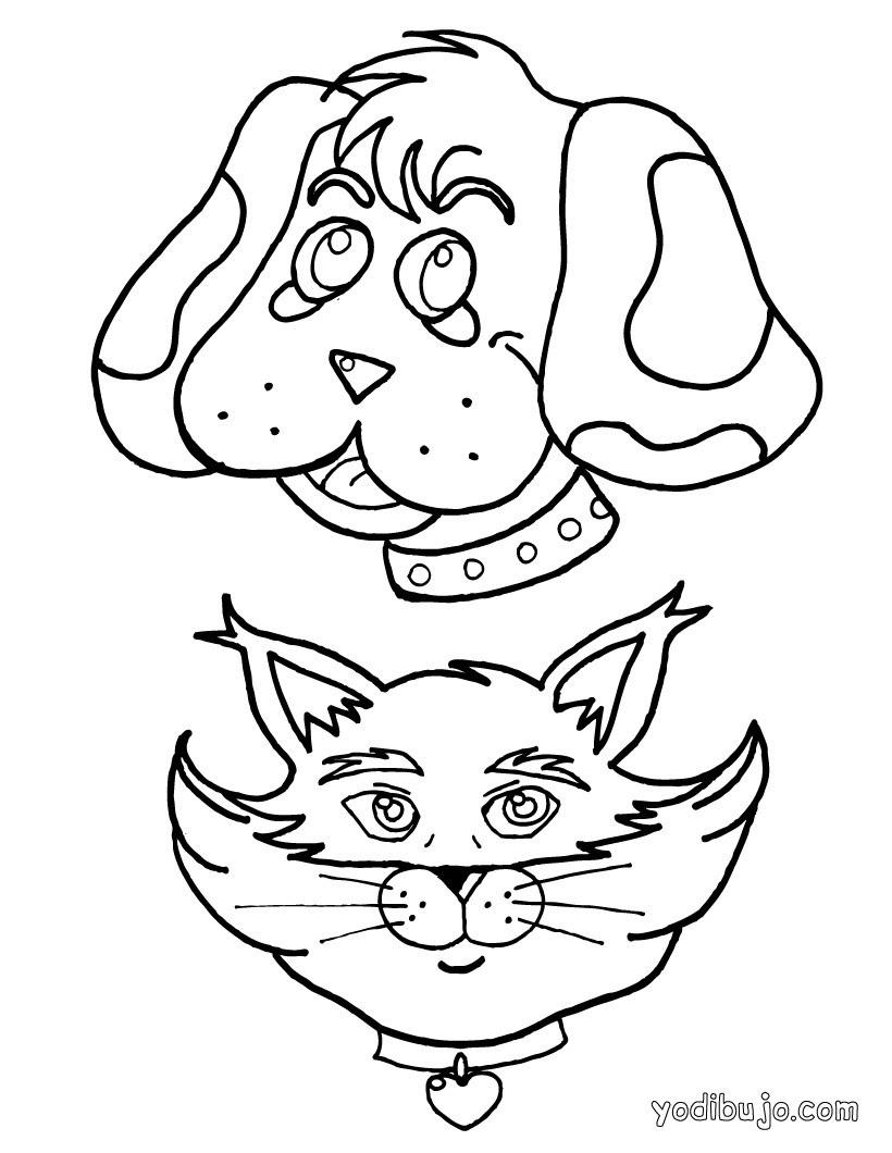 Dibujos Para Colorear Un Retrato De Perro Es Hellokids Com