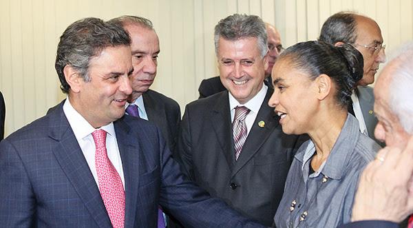 Aecio e Marina Silva