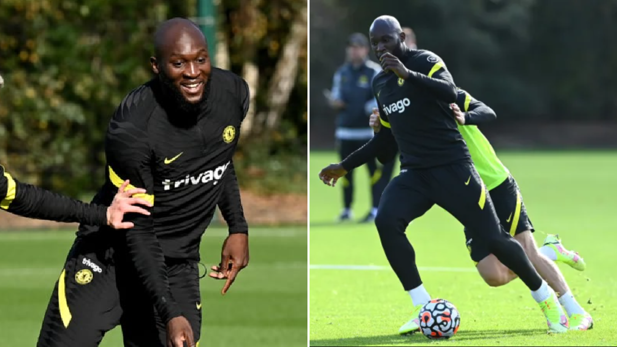 Romelu Lukaku takes part in Chelsea training after injury scare with Belgium