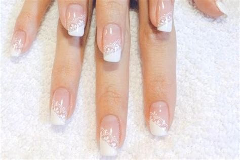 DIY: Gorgeous Lace Wedding Nails   Sandals Wedding Blog