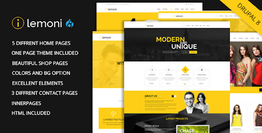 Lemoni - Multipurpose Drupal 8 Theme
