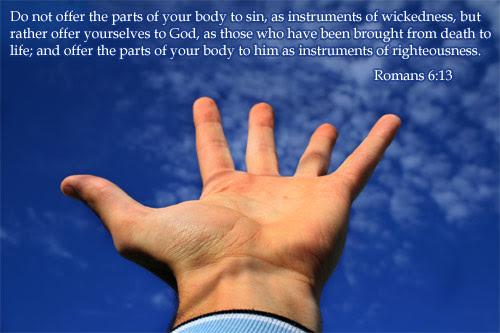 Inspirational illustration of Romans 6:13