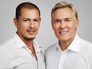 Rubem Robierb e Sam Champion esperam poder ajudar casais gays ao redor do mundo (Foto: Divulgação)