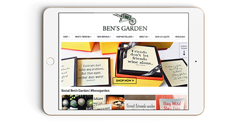 Bensgarden.com : Sign Up to Stay in Touch