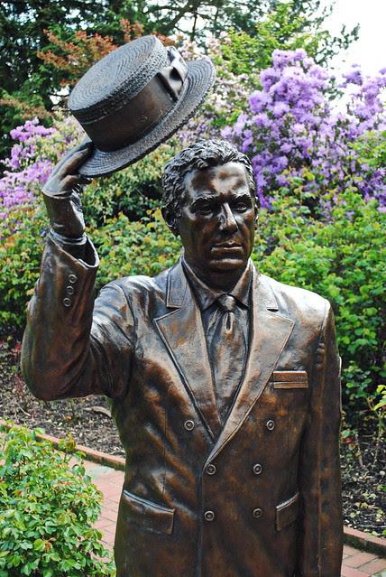 Statue in the Rose Test Garden - Inside Washington Park - Portland, Oregon