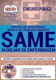 Apostila Concurso SAME Francisco Morato 2018 | AUXILIAR DE ENFERMAGEM