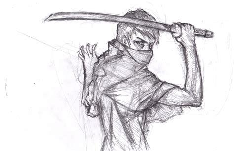 drawn ninja anime ninja pencil   color drawn ninja