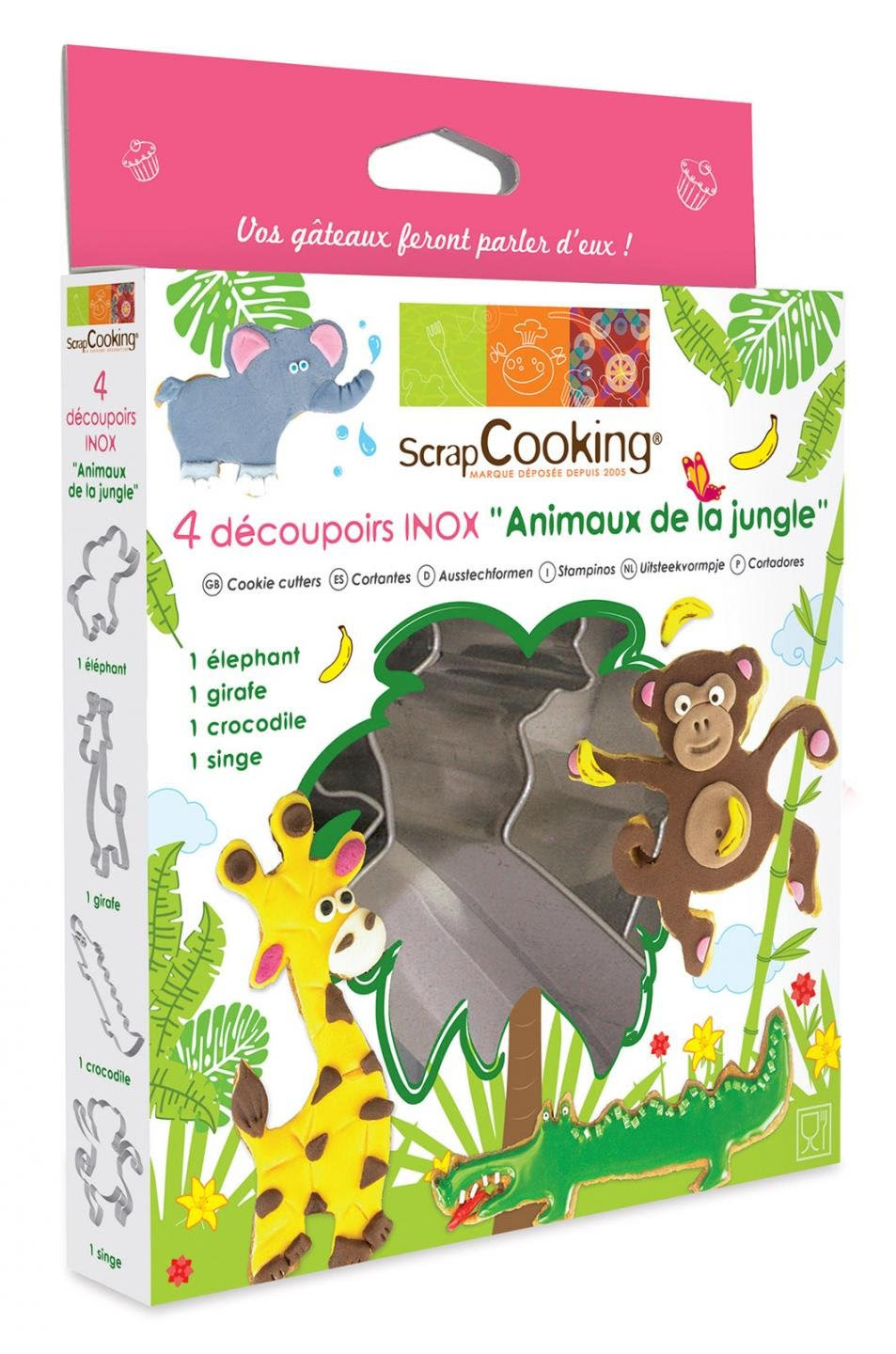 Decoupoirs animaux de la jungle Scrapcooking