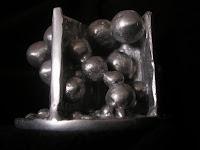Aluminum Sculpture - Side View, no filter color