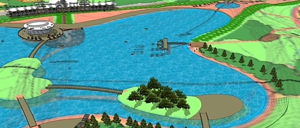A graphic shows the plan for Israel's largest man-made lake being built near Beer Sheva in Israel's south ( City of Beer Sheva )