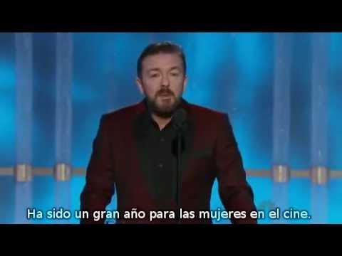 Video que muestra el monologo que hizo el actor Ricky Gervais en los Globos de Oro de 2012