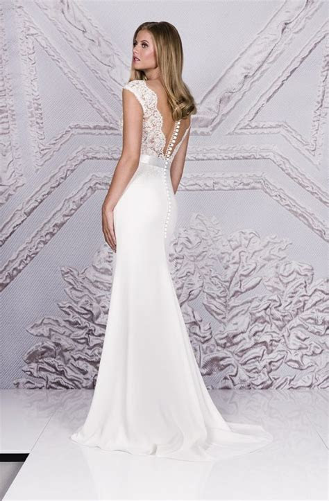 Crepe Wedding Dresses by couture bridal designer Suzanne
