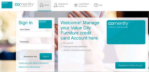 comenitynetvcf  city furniture credit card payment