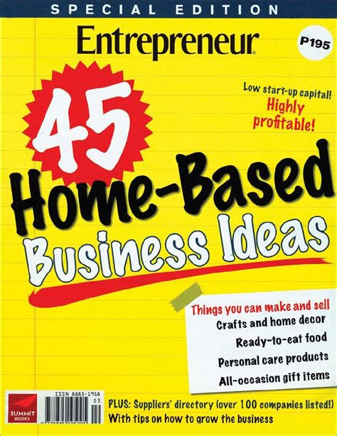entrepreneurs  home based business ideas magazine