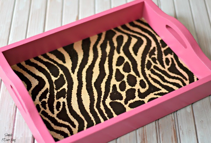 Cheetah Print Serving Tray by Simply Darrling