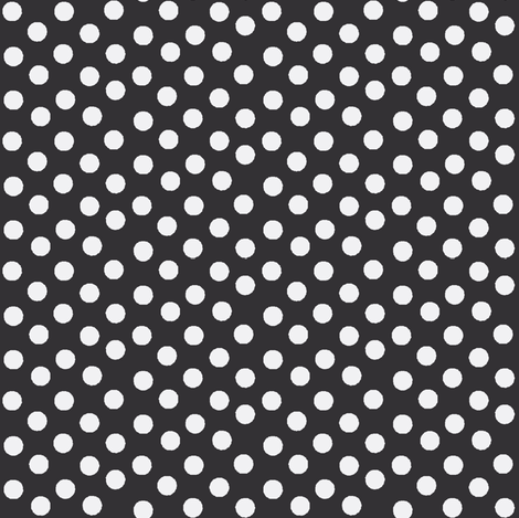 Pretty Nighttime Polka Dots fabric - thepinkhome - Spoonflower
