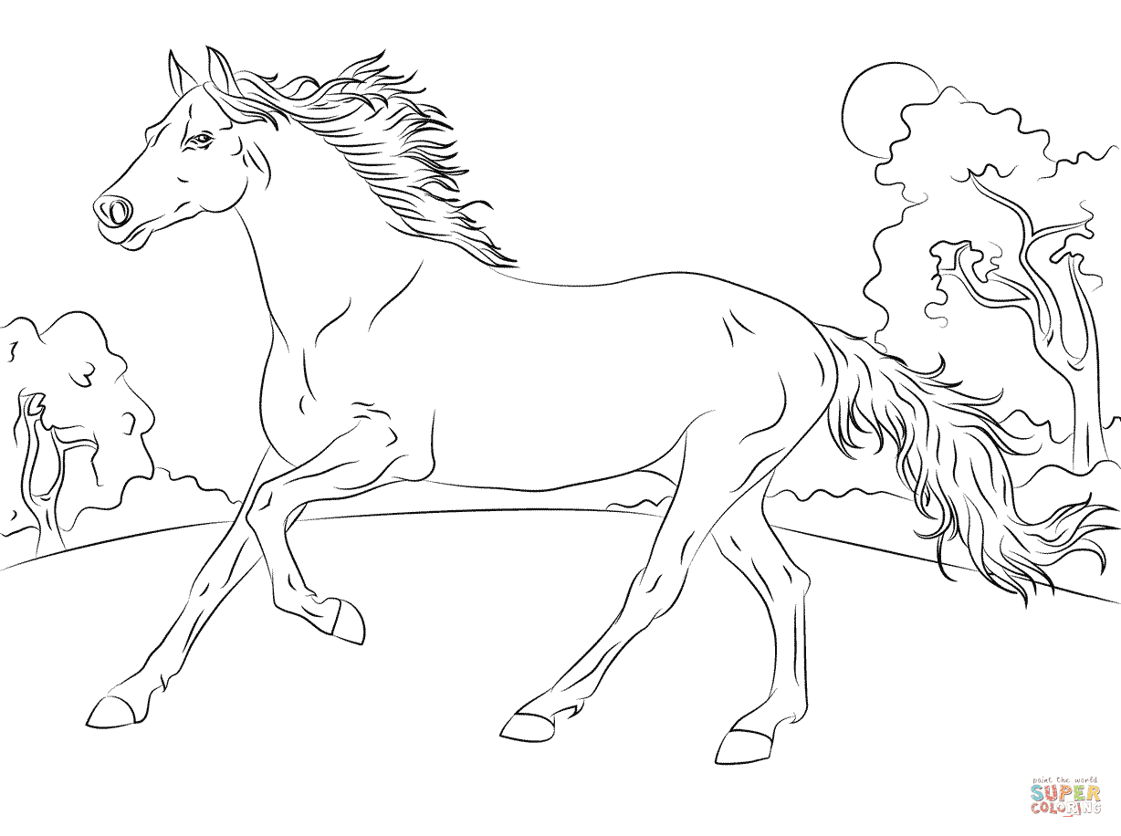 6600 Coloring Pages Of Horses , Free HD Download